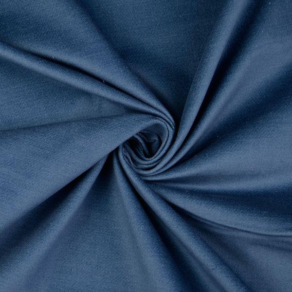 Velvet uni blau Reststück 1m