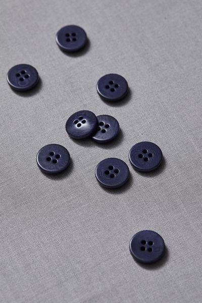 Plain Corozo Button 15mm blueberry