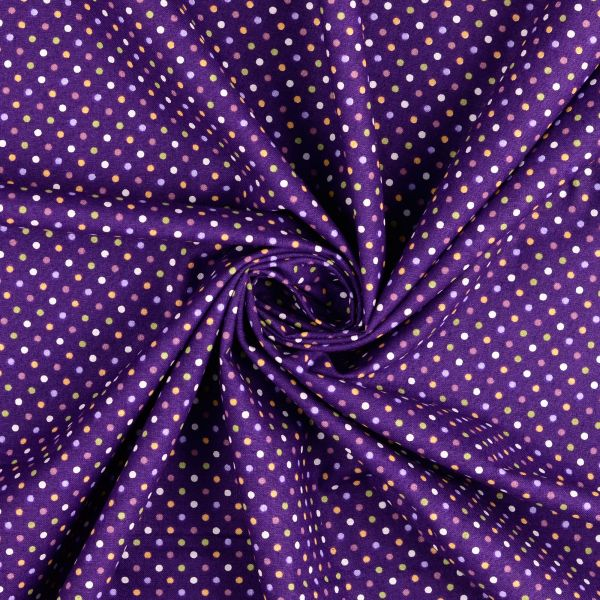 Punkte violett Baumwolle