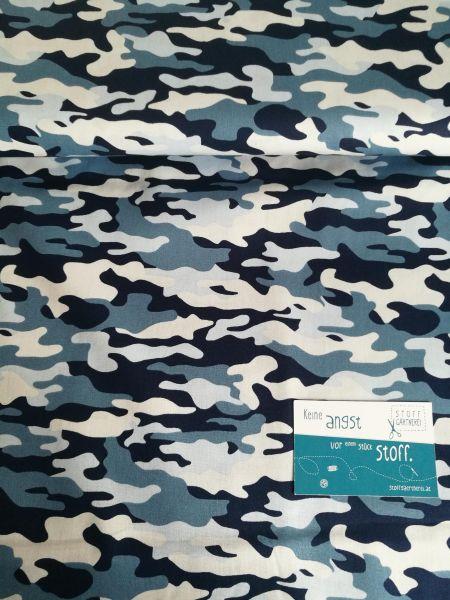 Camouflage blau Baumwolle