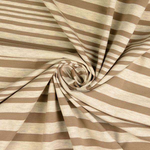Streifen Jersey grau/taupe