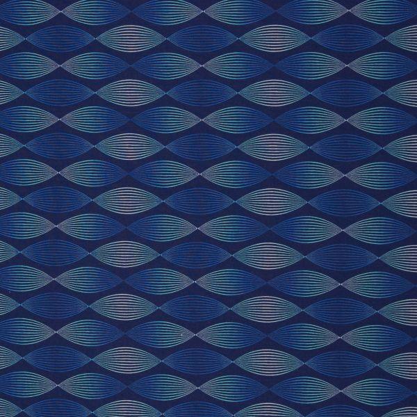 Lines & Dots Wellen blau Modalsweat