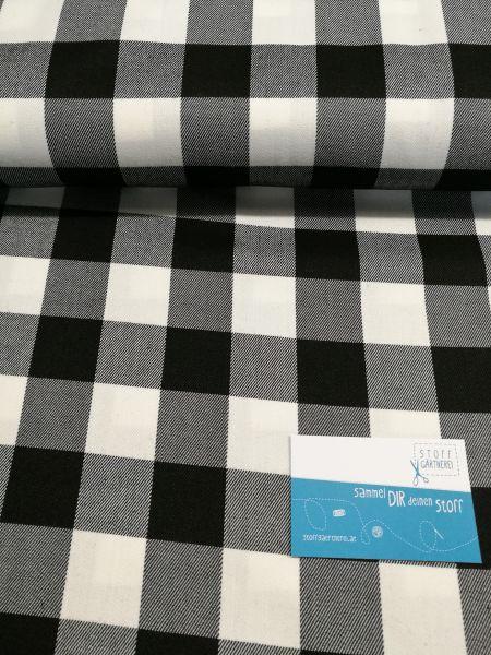 Tartan Check schwarz/weiß Reststück 0,80m