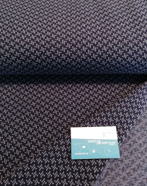 Windmill Knit Checkpoint blau Jacquard organic