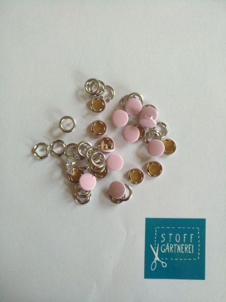 Jersey Druckknöpfe 11mm rosa