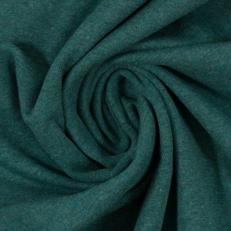 Bündchen glatt smaragd melange