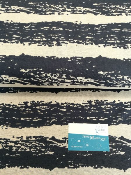 Stripe blau/grau Jacquard organic