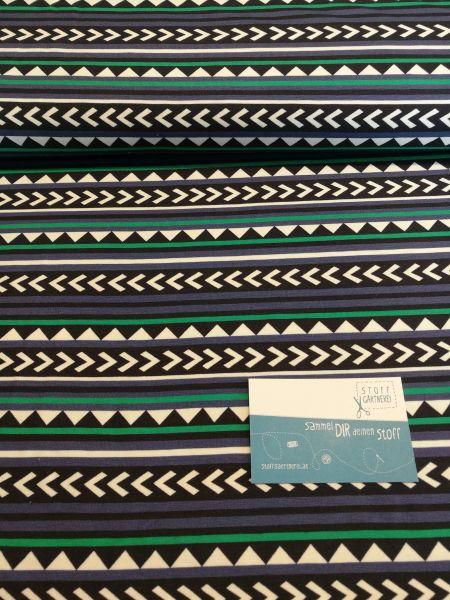 Norway schwarz/blau Jersey - Reststück 1m