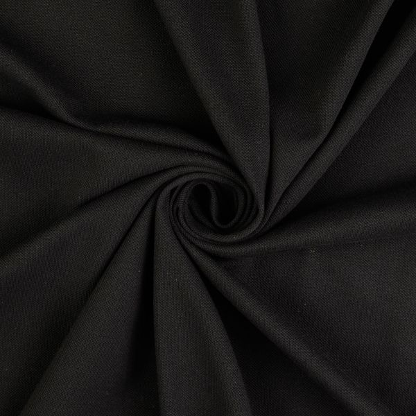 Piqué schwarz