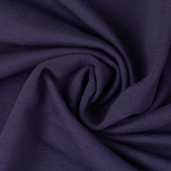 Sweat dunkelblau/violett Reststück 0,50m
