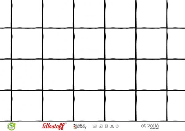 Grid weiß/schwarz Jersey organic
