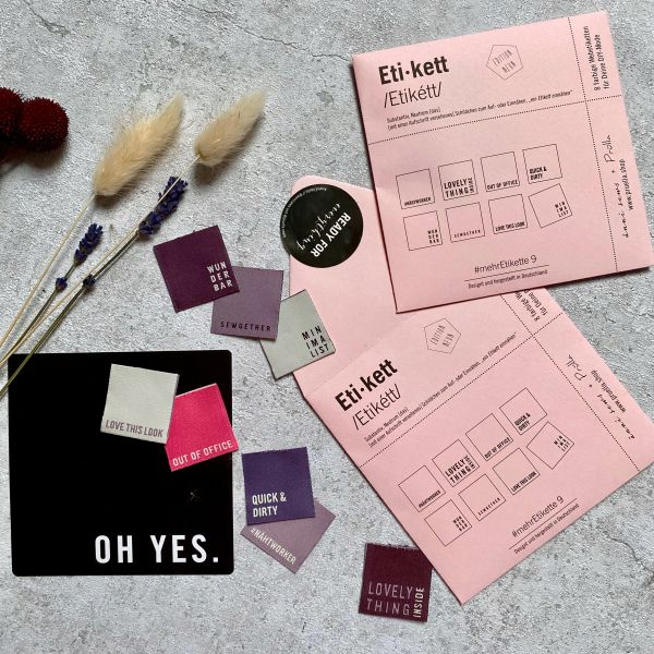 #mehrEtikette 9.Edition/rosa