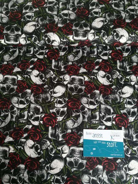 Skulls schwarz Baumwolle