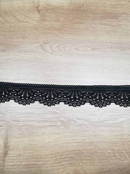 Elastische Spitze schwarz 30mm