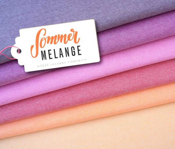 Summer Mélange orange Jersey organic