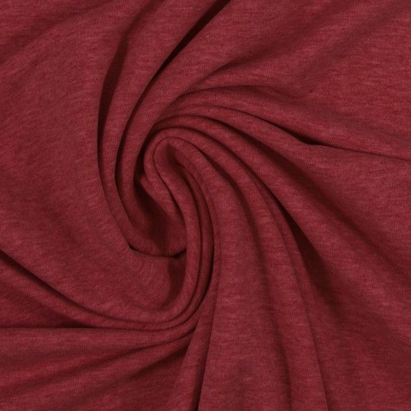 Sweat burgundy meliert uni