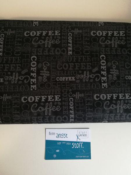 Coffee Time Schrift Baumwolle