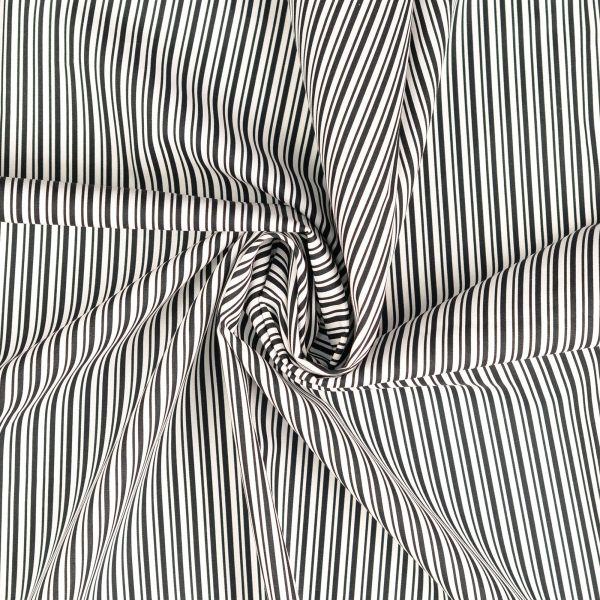 Längsstreifen schwarz/weiß Baumwolle