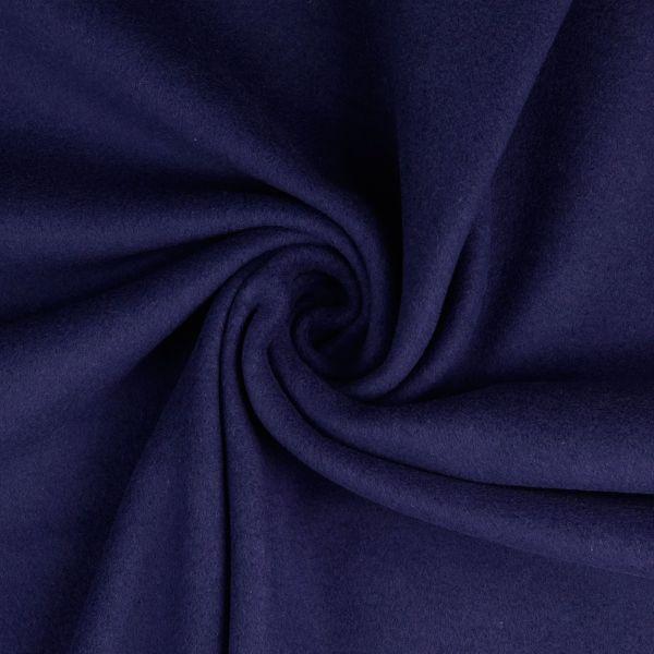 Baumwollfleece dunkelblau organic