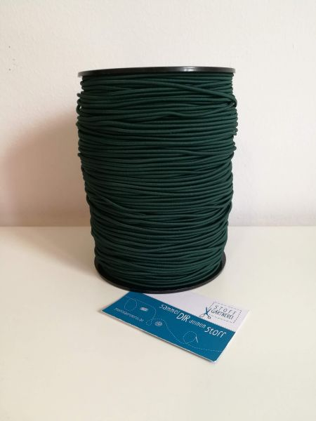 Elastikkordel 2,2 mm dunkelgrün