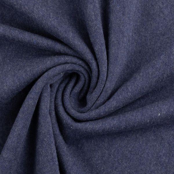 Bündchen glatt blau melange