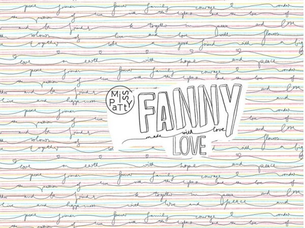 Funny Love Jersey organic - Reststück 0,7m
