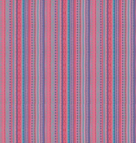 Streifen pink/blau/türkis Baumwolle