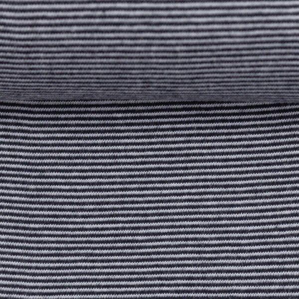 Bündchen gestreift dunkelblau/weiß