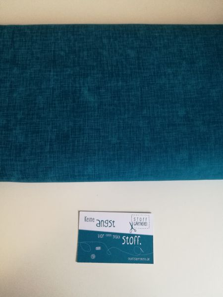 Quilters Linen teal Baumwolle