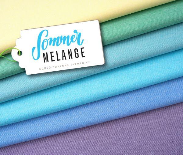 Summer Mélange gelb Jersey organic