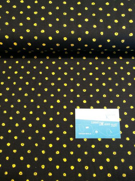 Punkte schwarz/gelb Jersey