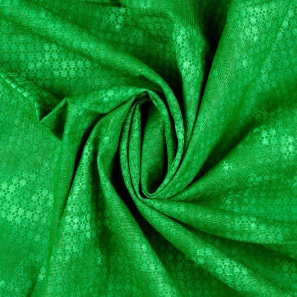 Grafisches Muster grün Baumwolle
