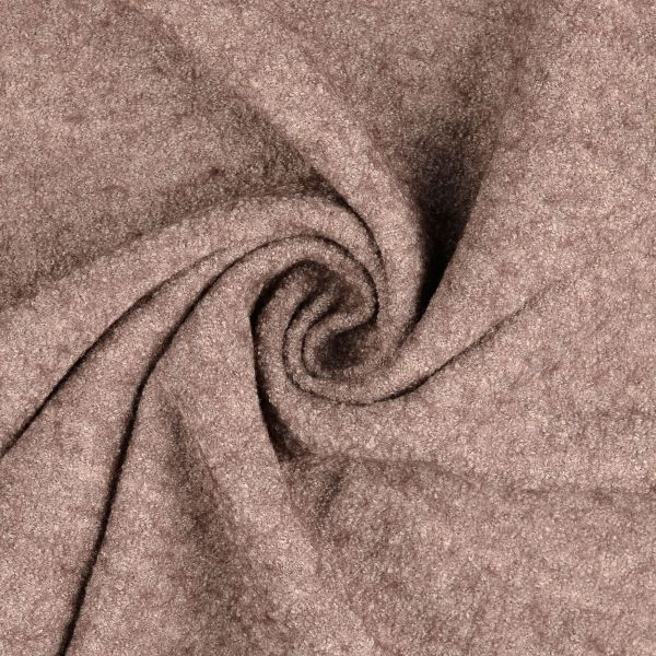 Wollboucle taupe