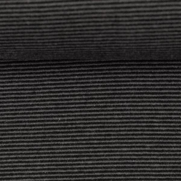Bündchen gestreift dunkelgrau/schwarz