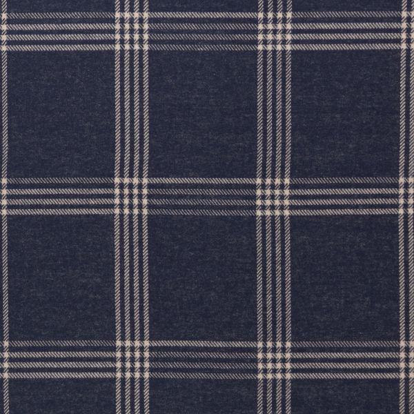 Cozy Collection Glencheck Jacquard blau
