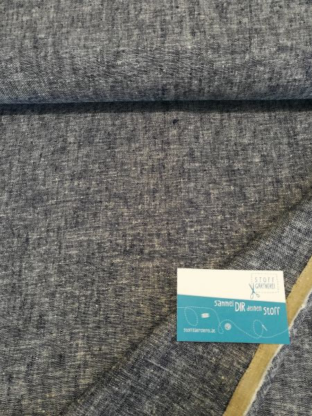 Brussels Washer Yarn Dye Leinen/Viskose denim