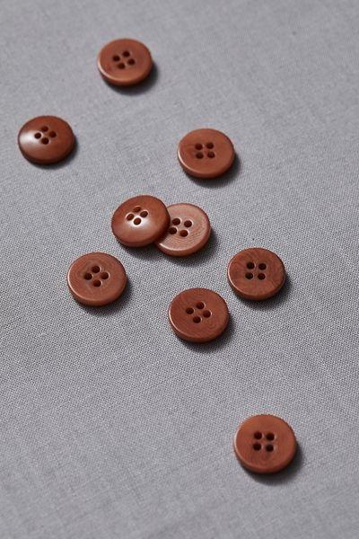 Plain Corozo Button 15mm rust
