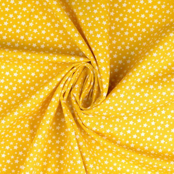 Sterne gelb Baumwolle