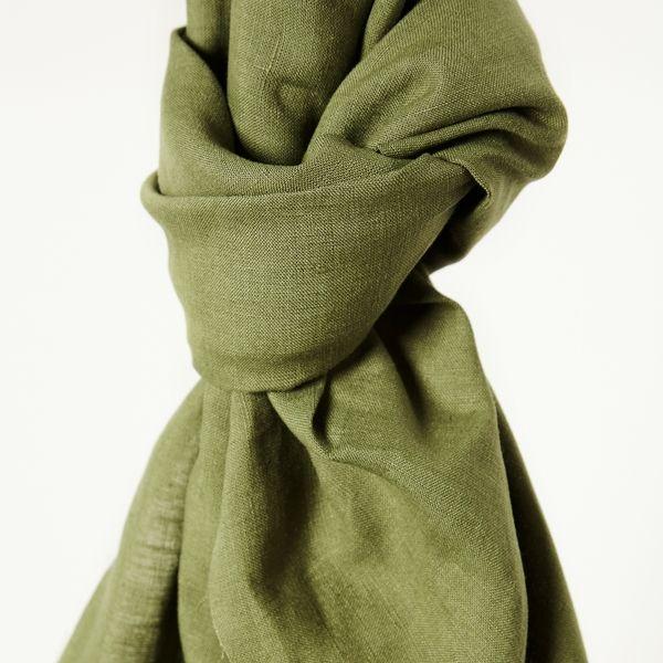 Nisa softened Linen olive green