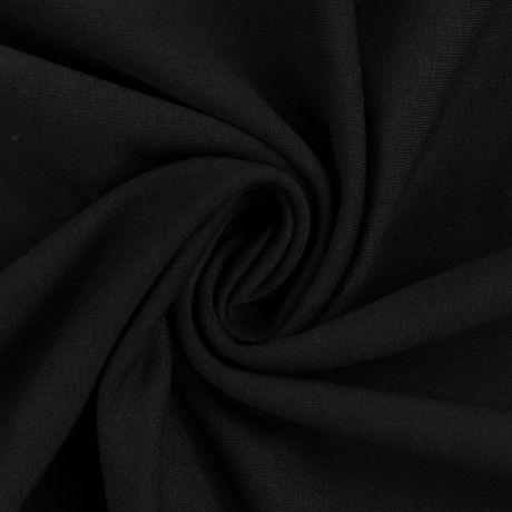 Sommersweat uni schwarz