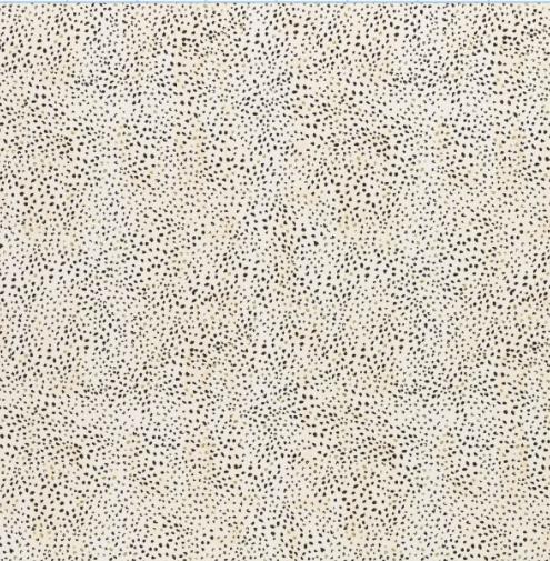 Linda Punkte natur/schwarz Jersey - Reststück 0,9m