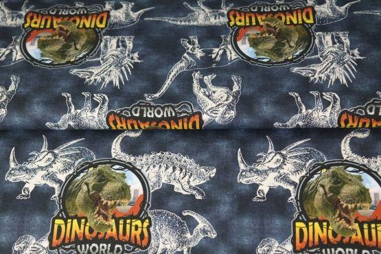 Dinosaur World blau Jersey