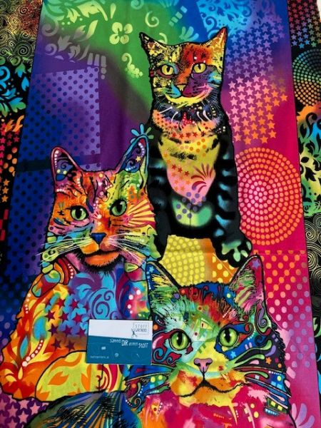 Crazy for Cats Panel 0,55m Baumwolle