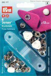 Jersey Druckknöpfe geschlossen 10mm silber