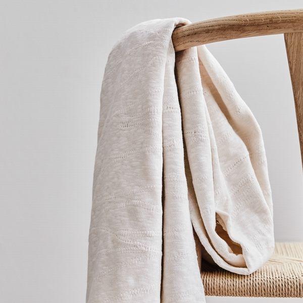 Slub Jacquard Knit creamy white organic