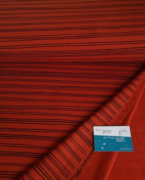 Stripes terracotta Sweat organic